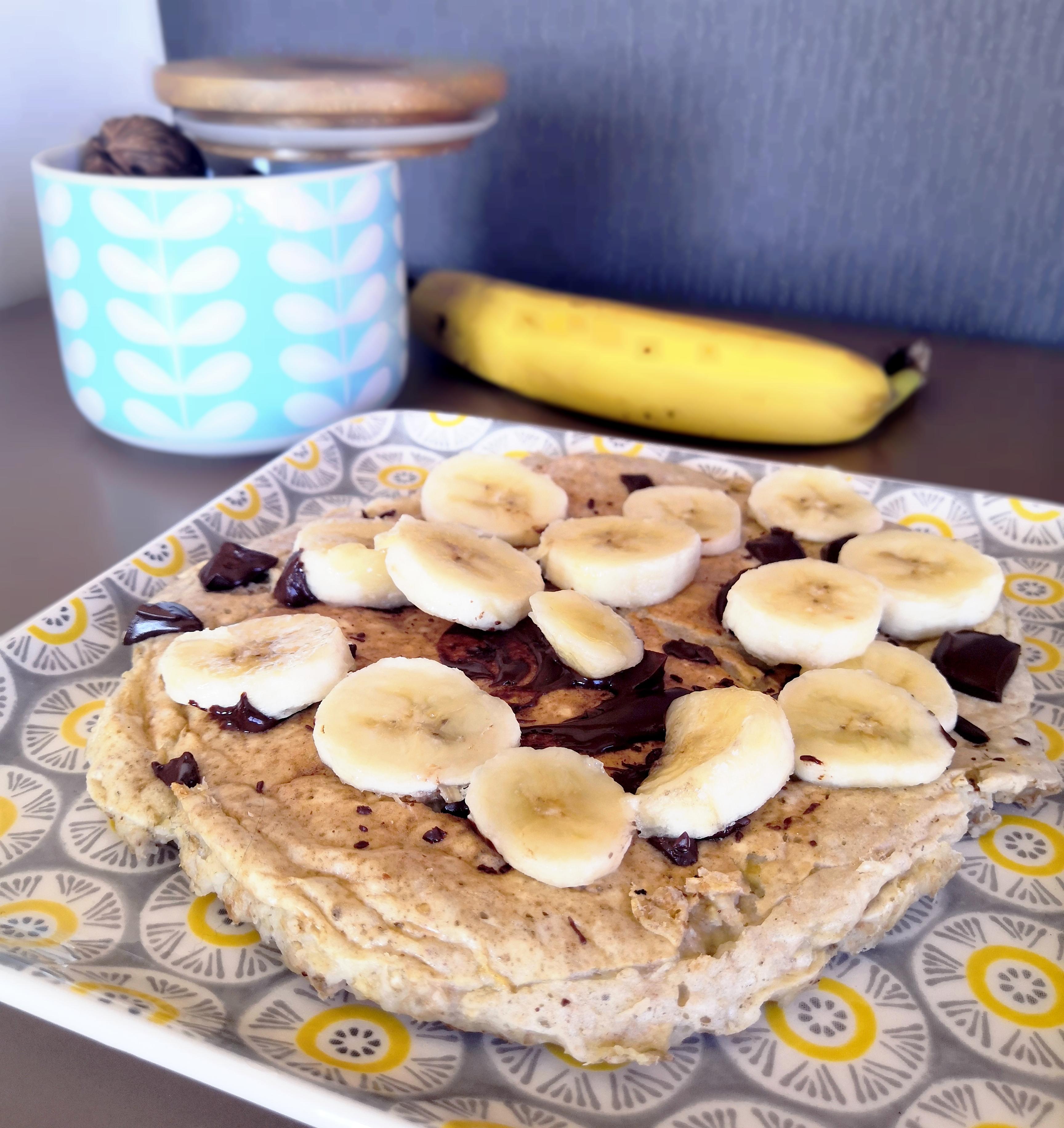 banana pancake chocolat