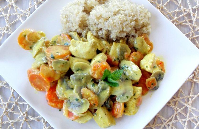 quinoa au poulet curry